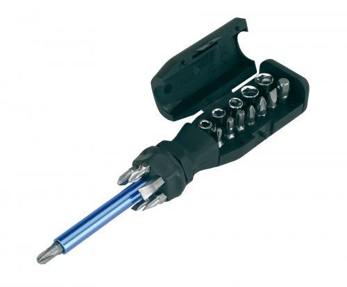 19-częściowy zestaw śrubokrętów SCREW FINDER, czarny