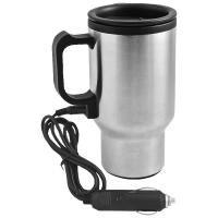 Kubek izotermiczny Car Comfort 420 ml z podgrzewaczem, srebrny/czarny