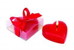 Świeczka w kształcie serca, SWEETHEART, czerwony
