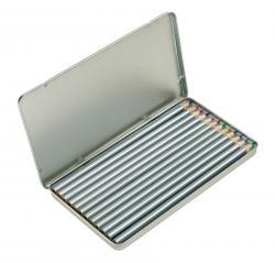 12 długich kredek SILVERSTAR, srebrny