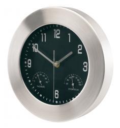 Aluminiowy zegar ścienny JUPITER, srebrny