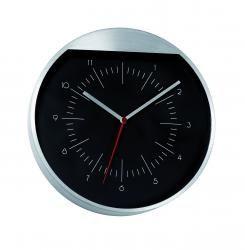 Zegar ścienny, ROUNDBOUT, czarny/srebrny