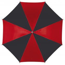 Automatyczny parasol DANCE, czarny, czerwony