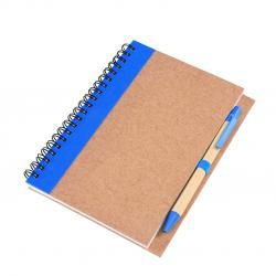 Kołonotatnik ekologiczny, RECYCLE, A6, niebieski