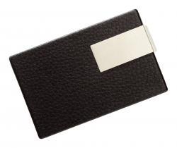 Etui na wizytówki COOL CARDS, czarny, srebrny