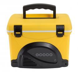 Izolacyjny pojemnik COOL MUSIC, czarno, żółty