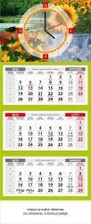 Kalendarz 2015 trójdzielny z zegarem