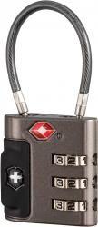 Kłódka na szyfr TRAVEL SENTRY® APPROVED CABLE LOCK, szara