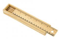 Komplet 8 kredek STRAIGHT, drewniany