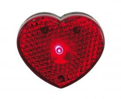 Lampka w kształcie serca, VISIBLE, czerwony