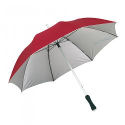 Lekki parasol JOKER, czerwony, srebrny