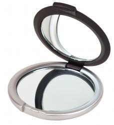 Lusterko podręczne do makijażu MAGNIFY, czarny, srebrny