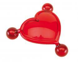 Serce do masażu, FOR TWO, czerwony