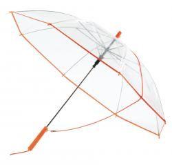 Parasol automatyczny, PANORAMIC, trasparentny/pomrańczowy