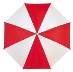 Parasol golf RAINY, czerwony/biały