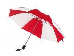 Parasol składany bez automatu REGULAR, czerwony, biały