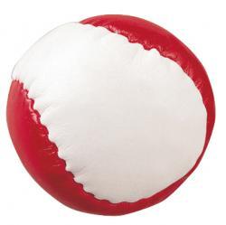 Piłeczka antystresowa JUGGLE, biały, czerwony