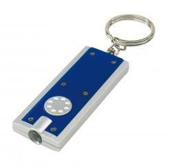 Brelok LED, LOOK, niebieski/srebrny