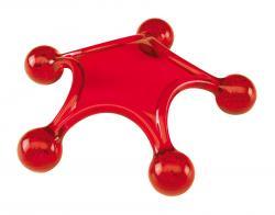 Przyrząd do masażu STARFISH, czerwony
