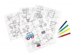 Puzzle dla dzieci, PAINT YOUR PICTURE, wielokolorowy