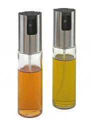 Shakery na olej i ocet LIFESTYLE, srebrny, transparentny