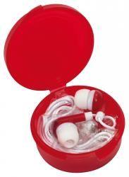 Słuchawki douszne, MUSIC, czerwony