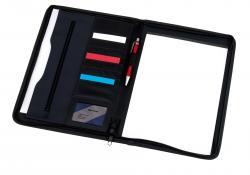 Teczka konferencyjna AVANTI z blokiem w formacie A4, niebieski, czarny