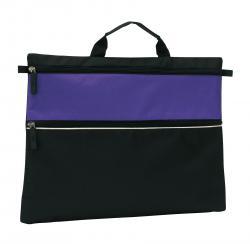Torba na dokumenty FILE, czarny, purpurowy