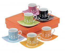 Zestaw do espresso LA DOLCE VITA, kolorowy