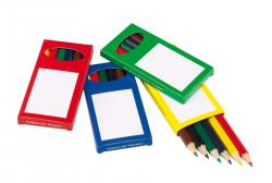 Zestaw kredek RAINBOW, niebieski, zielony, czerwony, żółty