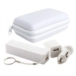 zestaw power bank i ładowarka USB