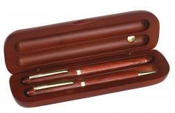 Zestaw z drewna różanego POET, brązowy