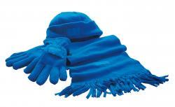 Zestaw z mięciutkiego polaru TRIPLE, niebieski