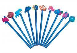Zestaw ołówków z gumką, 10 szt, WATERWORLD, wielokolorowy