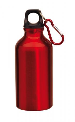 Aluminiowy bidon TRANSIT, czerwony