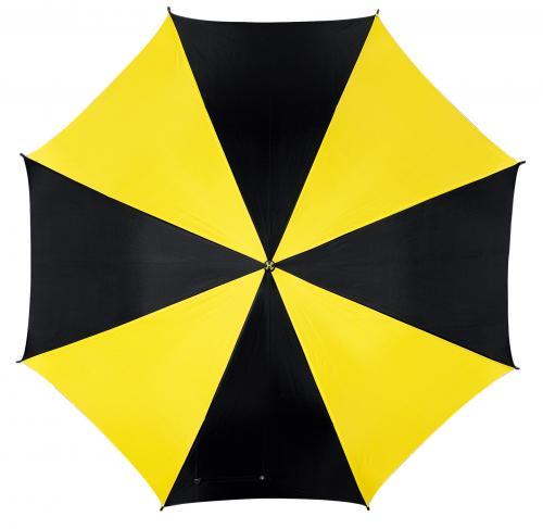Automatyczny parasol DANCE, czarny, żółty