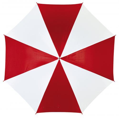 Automatyczny parasol DANCE, czerwony, biały