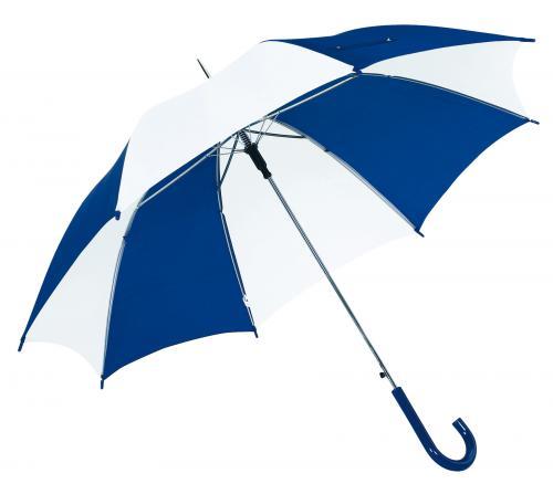 Automatyczny parasol DANCE, niebieski, biały