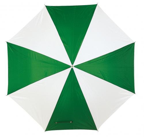 Automatyczny parasol DANCE, zielony, biały