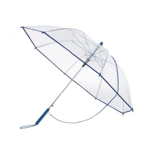 Automatyczny parasol PANORAMIC, transparentny, niebieski