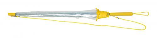 Automatyczny parasol PANORAMIC, transparentny, żółty