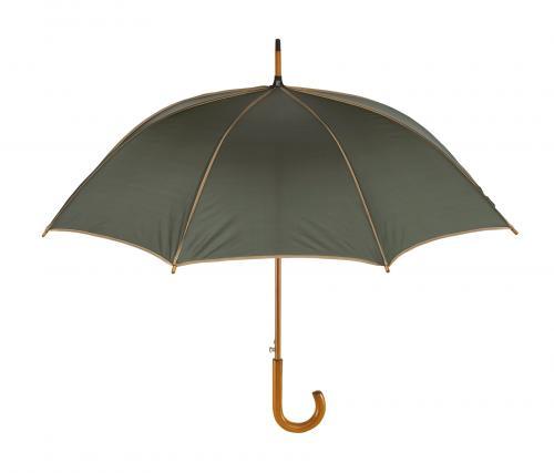Automatyczny parasol WALTZ, ciemnozielony, beżowy