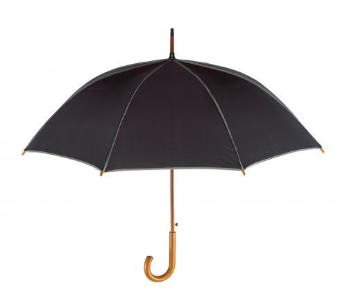 Automatyczny parasol WALTZ, czarny, szary