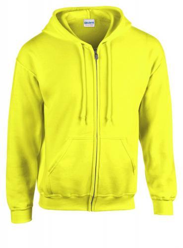 Bluza HB Zip Hooded żółty fluorescencyjny