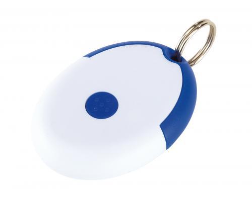 Brelok na klucze FLIRT, niebieski, biały