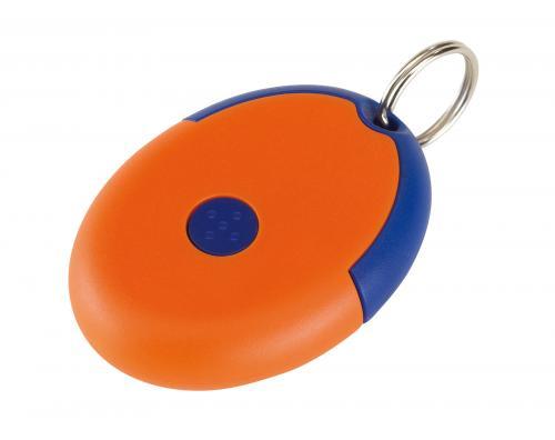 Brelok na klucze FLIRT, niebieski, pomarańczowy