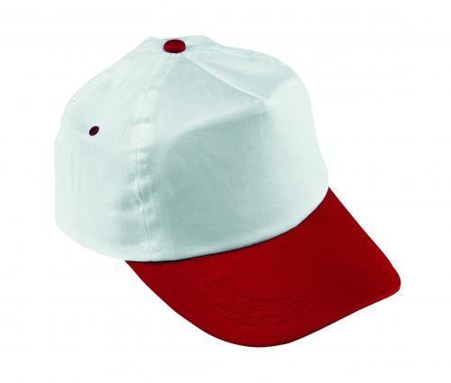 Czapka baseballowa, ATHLETE, biały/czerwony