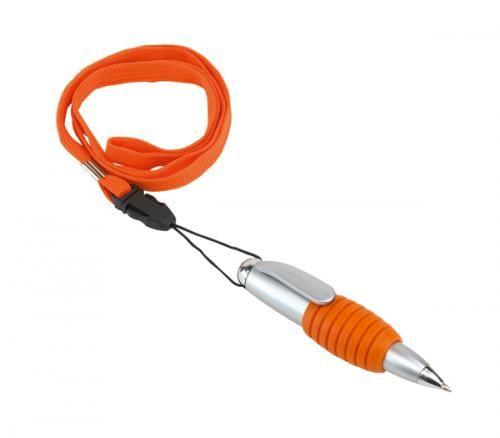 Długopis ″Twister″ ze sznurkiem, pomar.