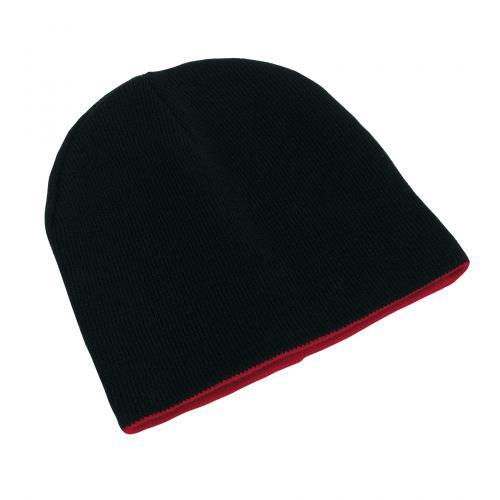 Dwustronna czapka NORDIC, czarny, czerwony