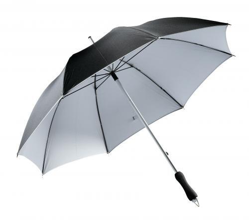 Parasol, JOKER, czarny/srebrny